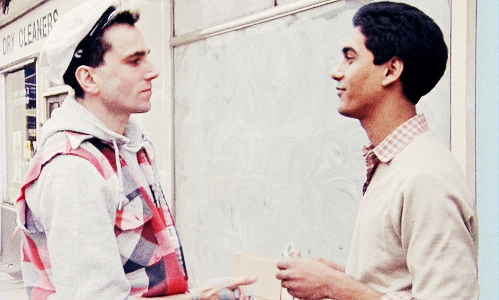 Daniel Day-Lewis & Gordon Warnecke in  My Beautiful Laundrette