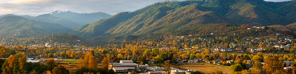 Beautiful Ashland Oregon, during the Fall (around the time when all this took place).