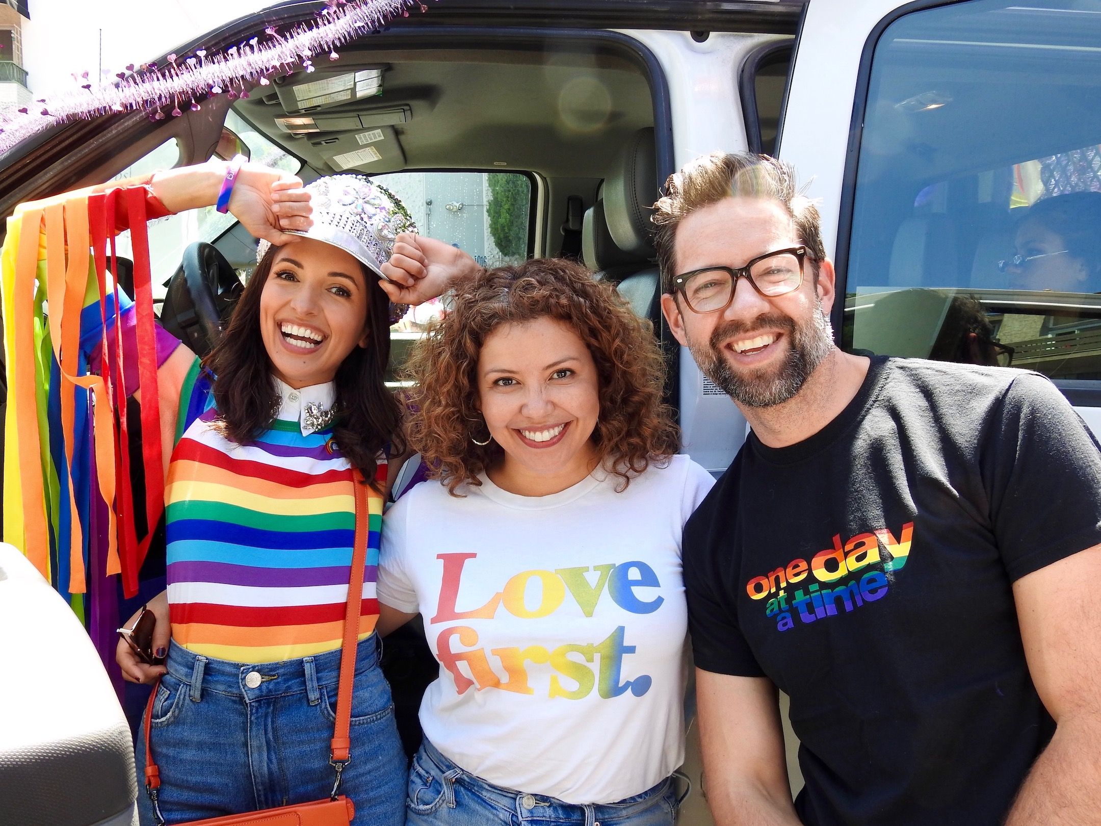 India de Beaufort, Justina Machado, and Todd Grinnell join amBi at Pride
