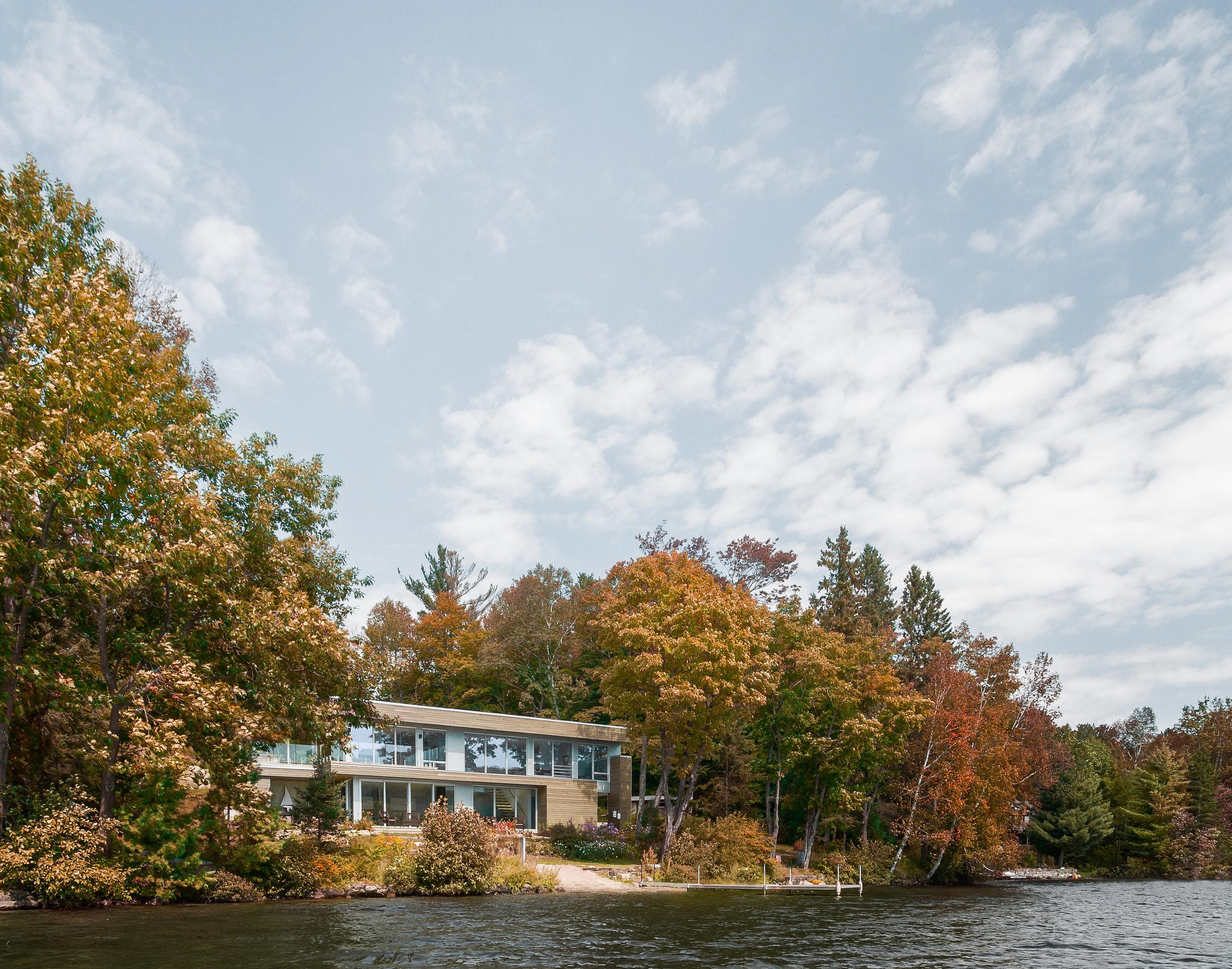 Architecture Vue du lac