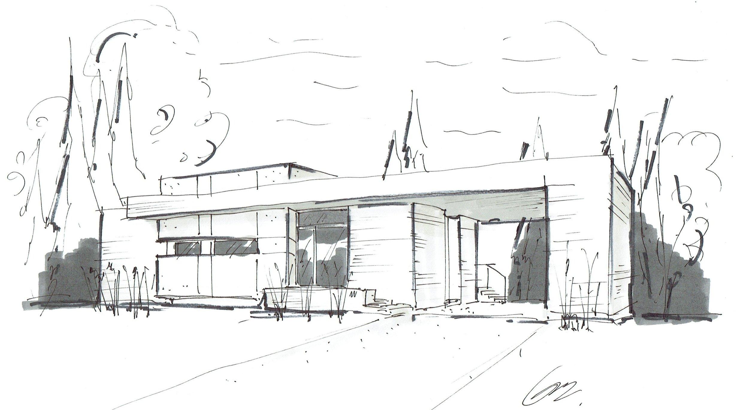 Croquis Architecture Vue Avant