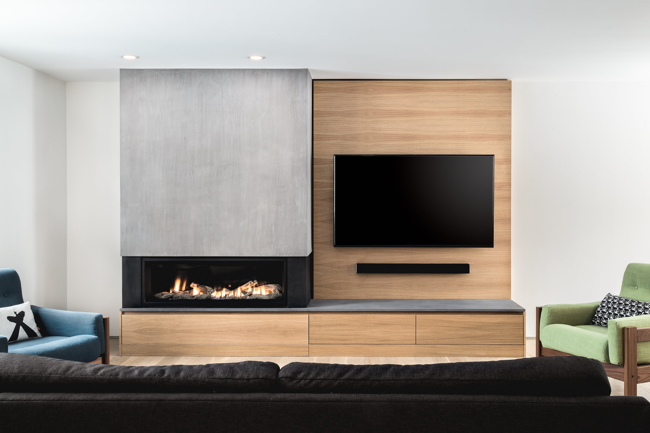Séjour - meuble foyer téléviseur