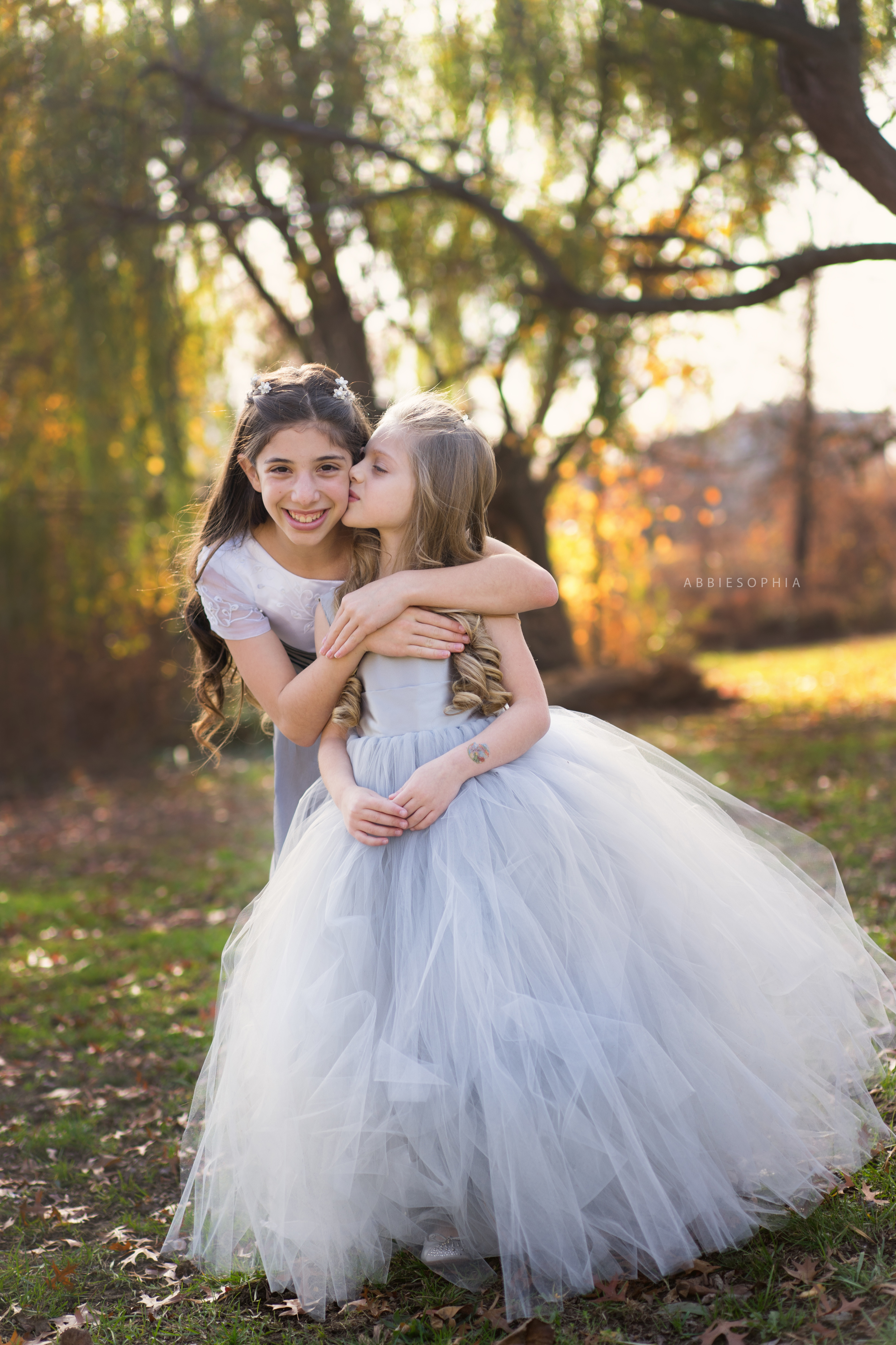 Family photos with a twist of tulle