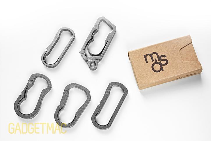 Mas Design Premium Grade 5 Titanium Key Carabiner C11