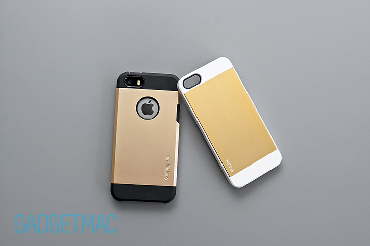 spigen_saturn_iphone_5s_case_champagne_gold_aluminum_tough_armor_cases_top.jpg