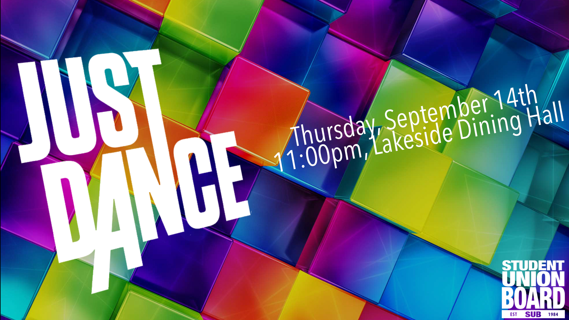Come out and Just Dance all night long with us on September 14th at 11:00pm!