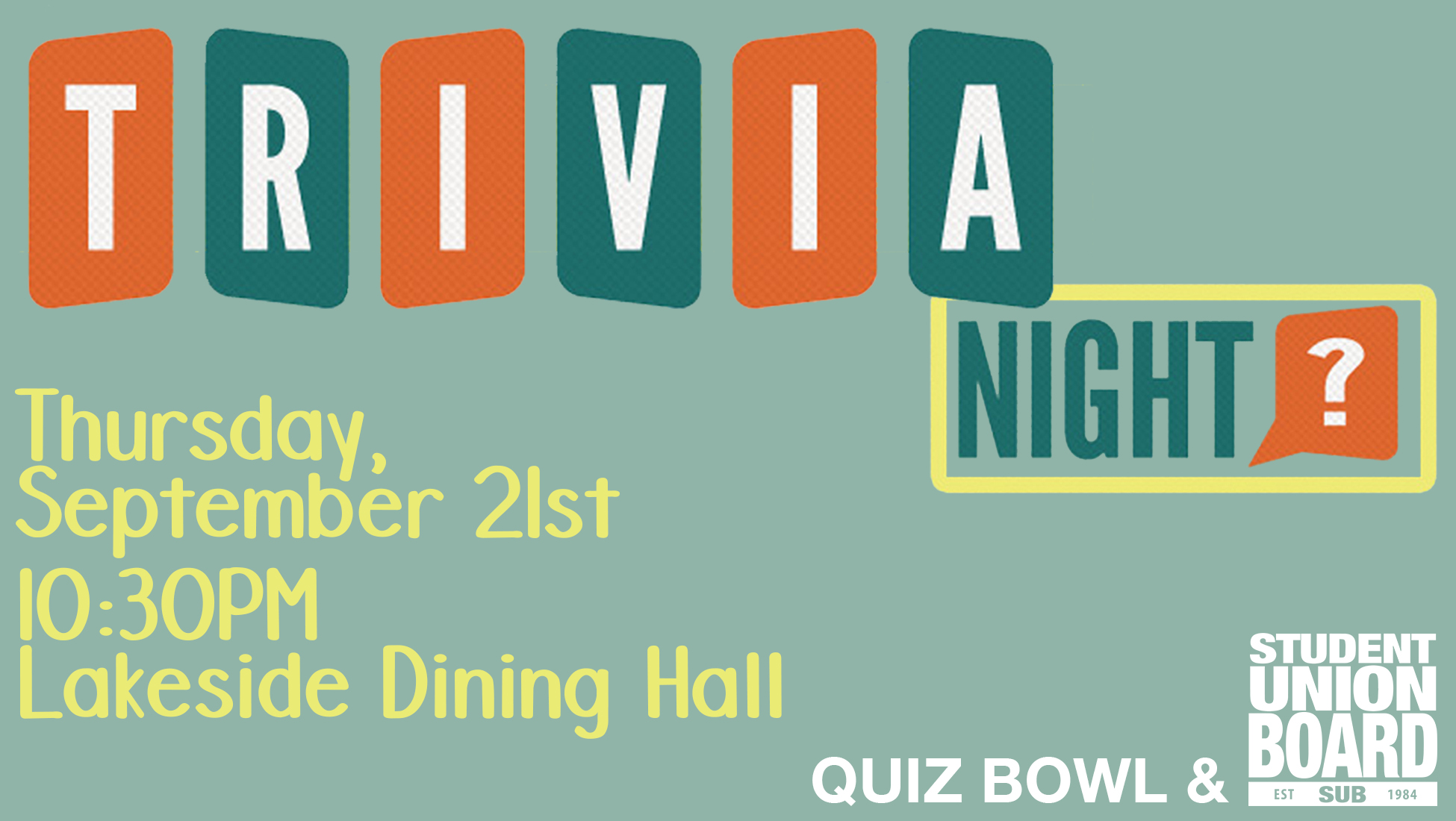 Learn fun trivia facts and win awesome prizes on September 21st in Lakeside!