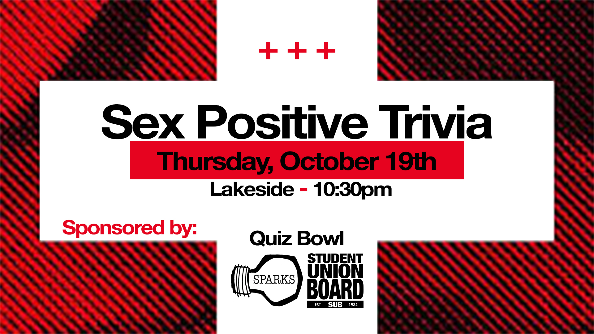 Learn some sex positive facts during this week's trivia on Thursday starting at 10:30pm in Lakeside!