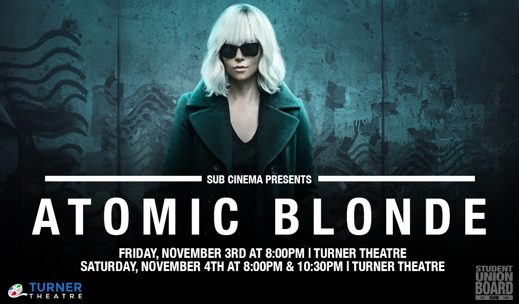 Catch Charlize Theron in this action-packed movie on Friday or Saturday in Turner Theatre!