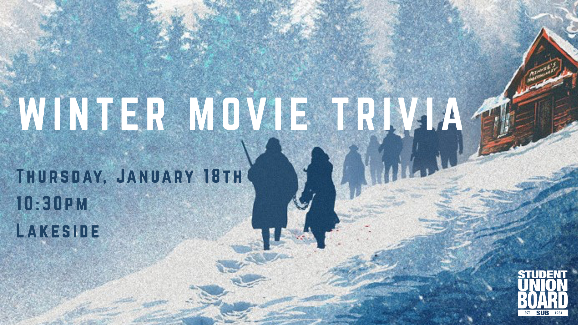 Our first monthly trivia of the year is Winter Movie themed! Brush up on your Winter movie watching and join us for a chance to win fun prizes!