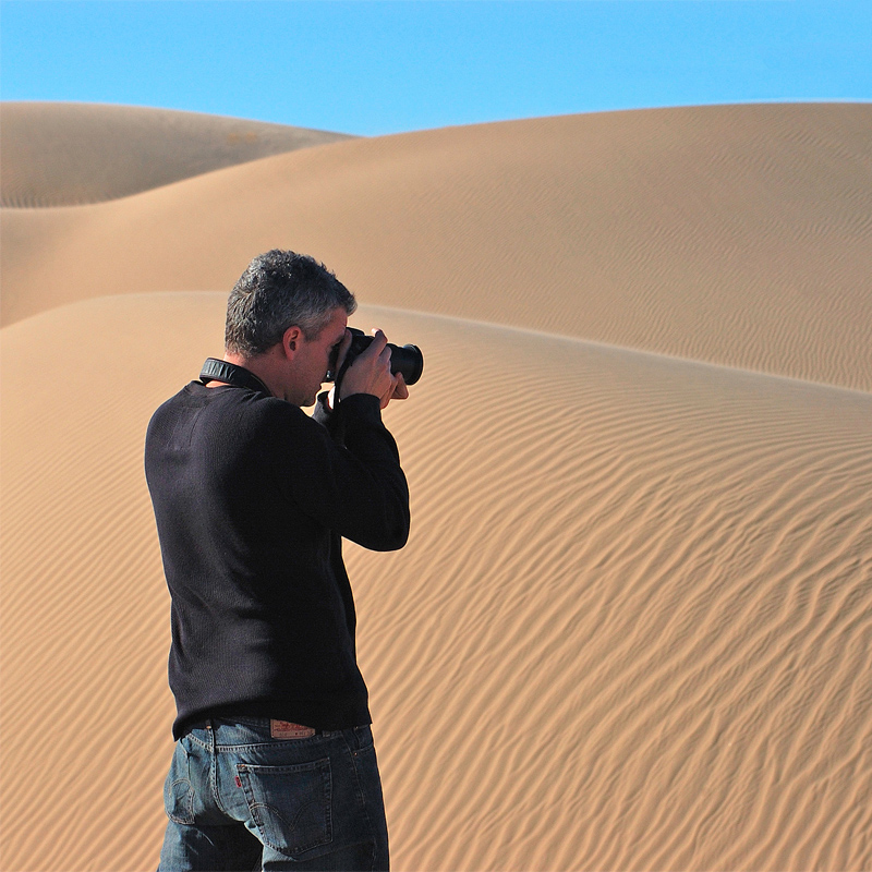 Sand dunes in Glamis, California. Photo by  Keith Sparbanie .