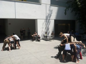 Simone Forti, Huddle, 1961. Performed at the Hammer Museum, Los Angeles, 2013 © Sally Stein, 2013