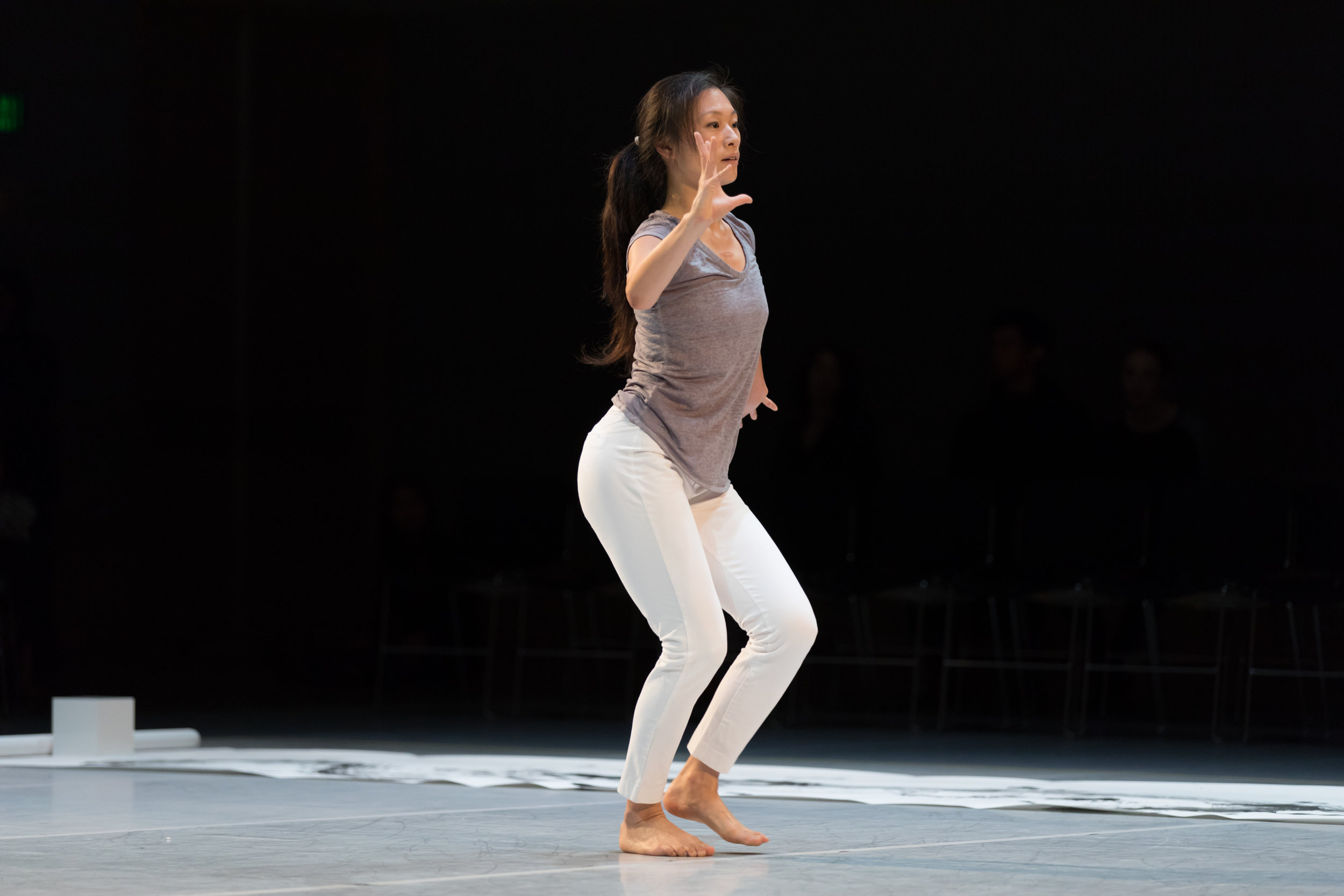 Photo by Margo Moritz of Peiling Kao in  per[mute]ing .