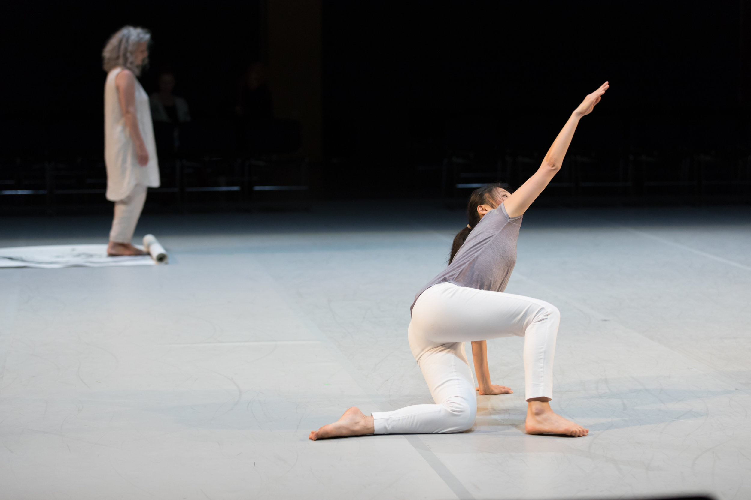 Photo by Margo Moritz of Peiling Kao and Tracy Taylor Grubbs in  per[mute]ing .