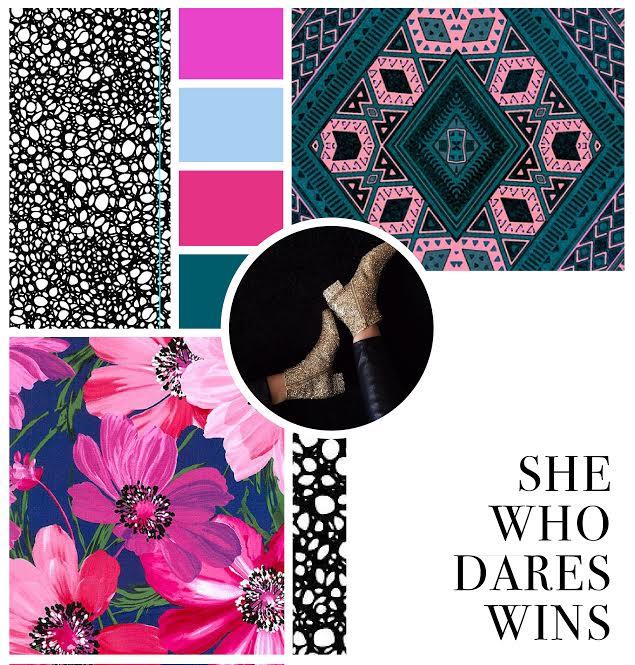Hue & Tone Creative - 'she who dares, wins' mood board