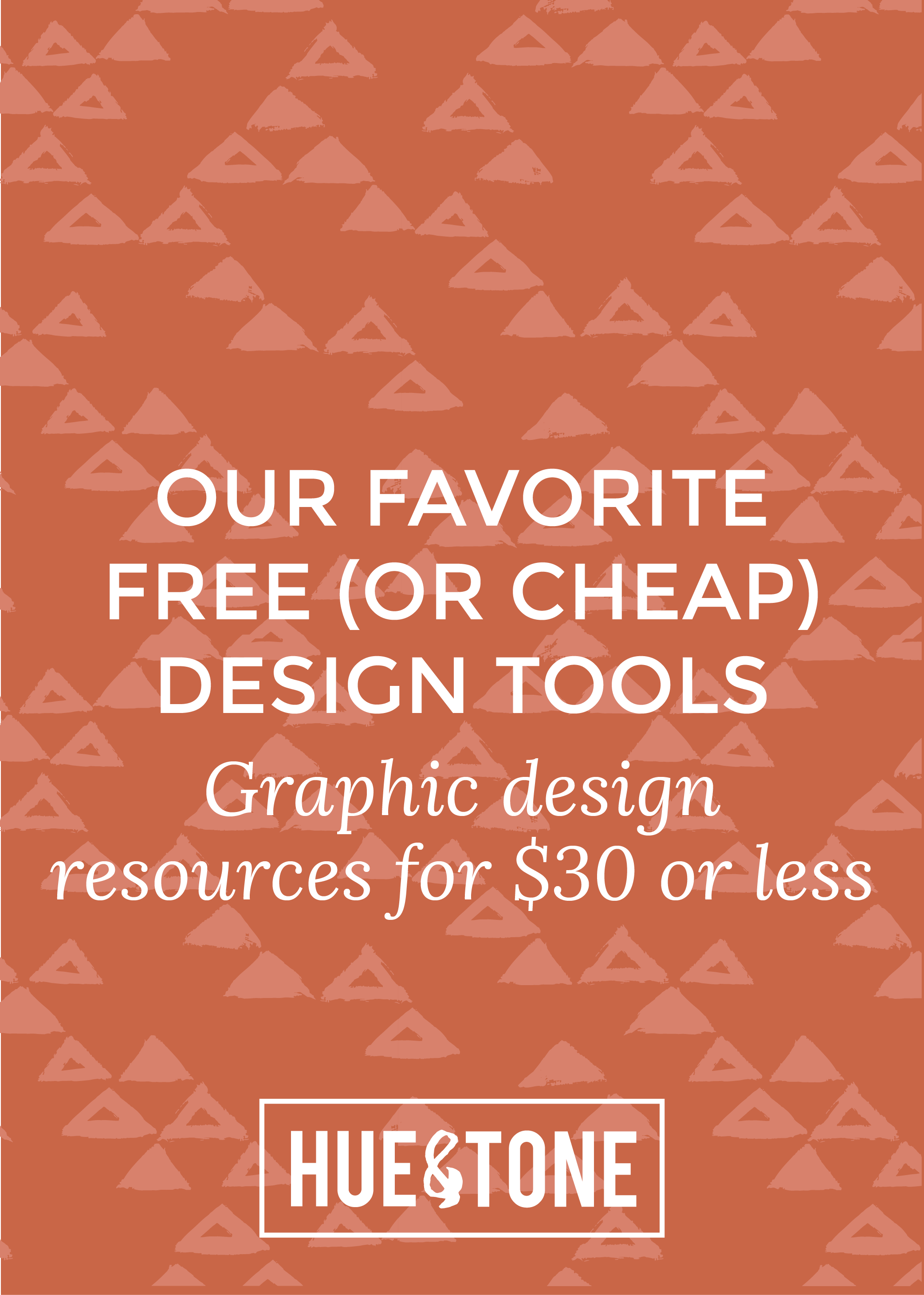 Hue & Tone Favorites: Free (or cheap) graphic design resources -- Hue & Tone Creative