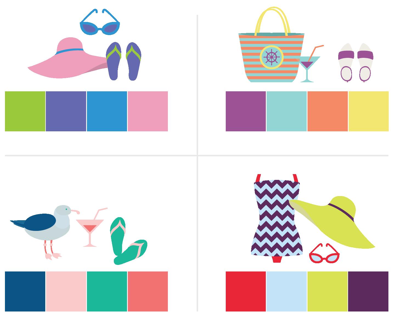 Spring Color Schemes -- Hue & Tone