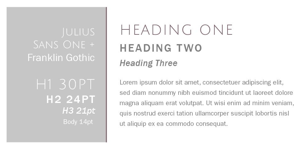 Julius Sans One + Franklin Gothic  |  Squarespace Font Pairings  |  Hue & Tone Creative