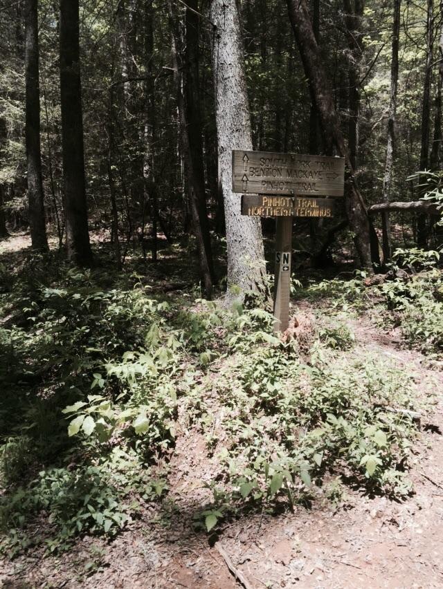 Pinhotti Trail North Terminus.