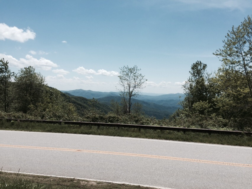Even more views! This is Unicoi Gap on the Cherohola Skyway.