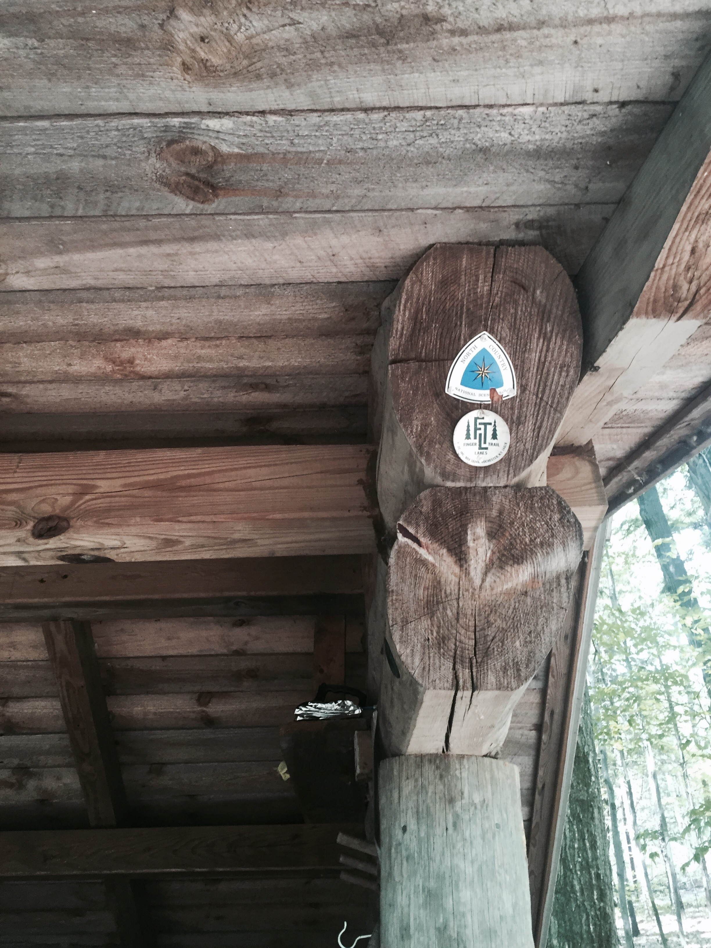 I love seeing these logos on all the shelters!  This is the Foxfire Lean To