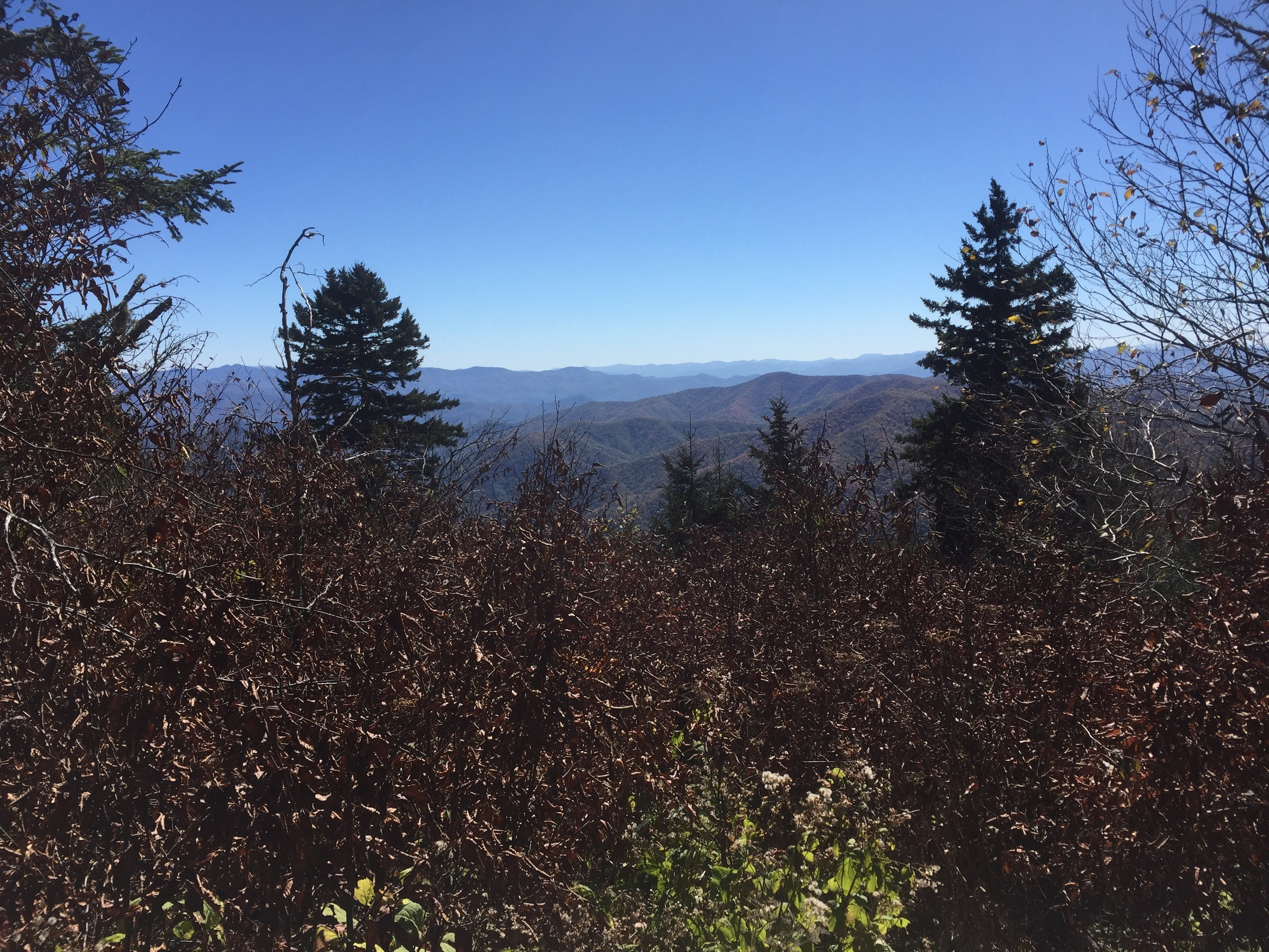 An unnamed view off the Appalachian Trail.