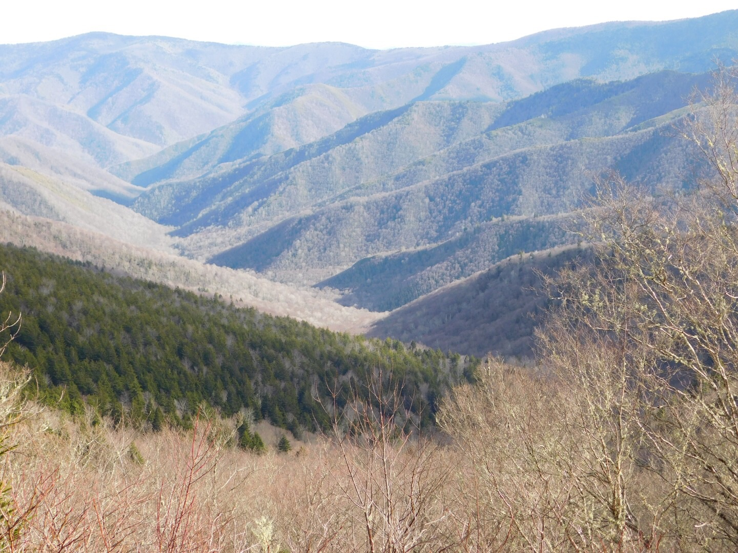 The beautiful view from the top. The ridge line is the Benton MacKaye Trail, our first summer thru hike in 2015.