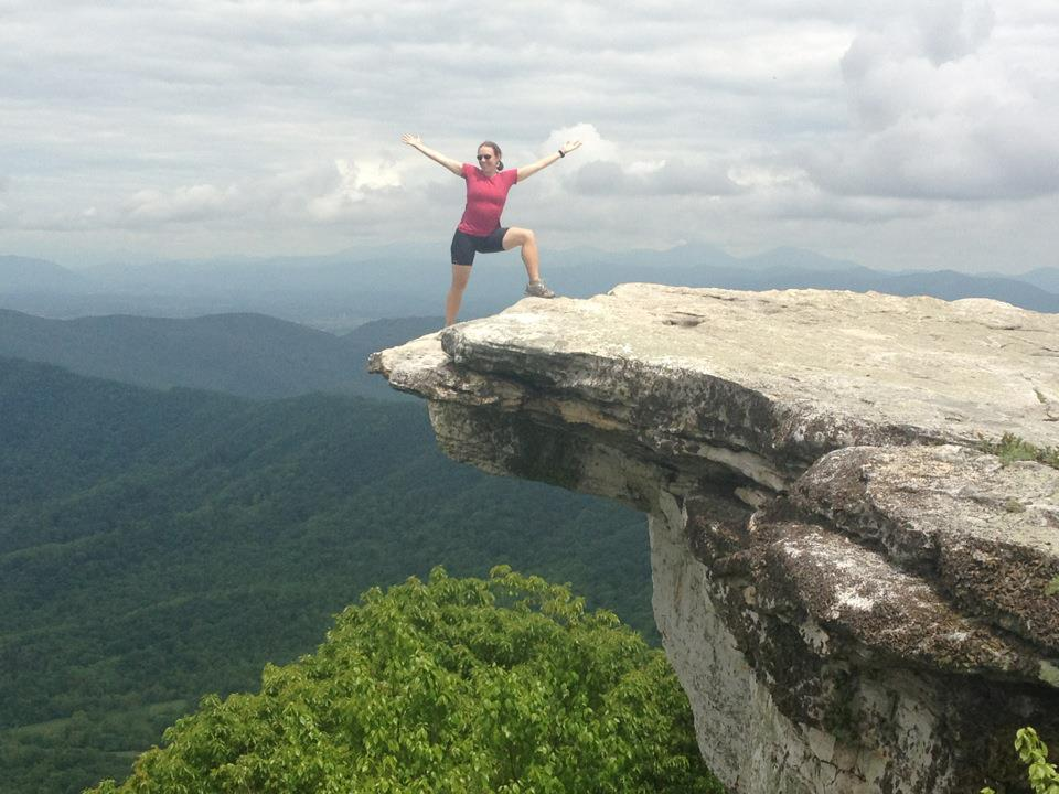 Me at McAffee's Knob - the most photographed location on the entire Appalachian Trail.  May 2012.