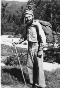 Gene Espy during his thru hike in 1951 (from geneespyhiker.com)