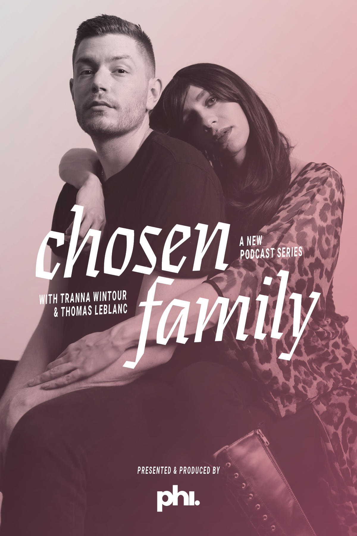 Poster for our podcast, Chosen Familly!  (Photo by Jimmy Francoeur, Design by Jimmy Pelchat)