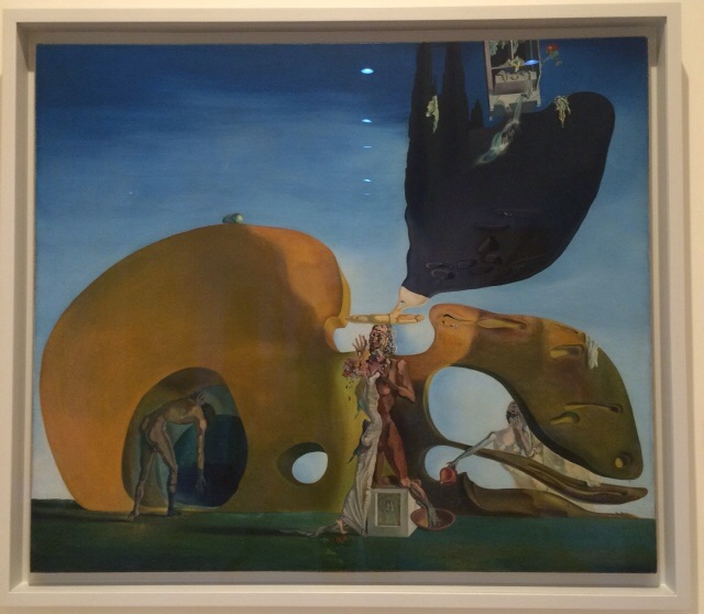 Salvador Dali (1904-1989) Birth of Liquid Desires, 1931-1932. Oil and collage on canvas.