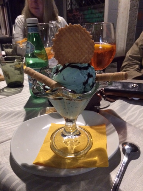 I was the only one who got dessert. I was on a mission to eat as much as gelato as I could put in my belly, so I needed to get in my quota. Cioccolato mente.