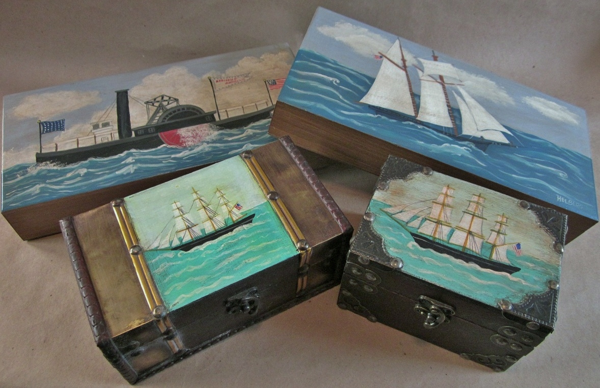 Nautical boxes by Kristin Helberg