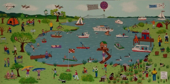 Chesapeake Bay mural created by 5th grade