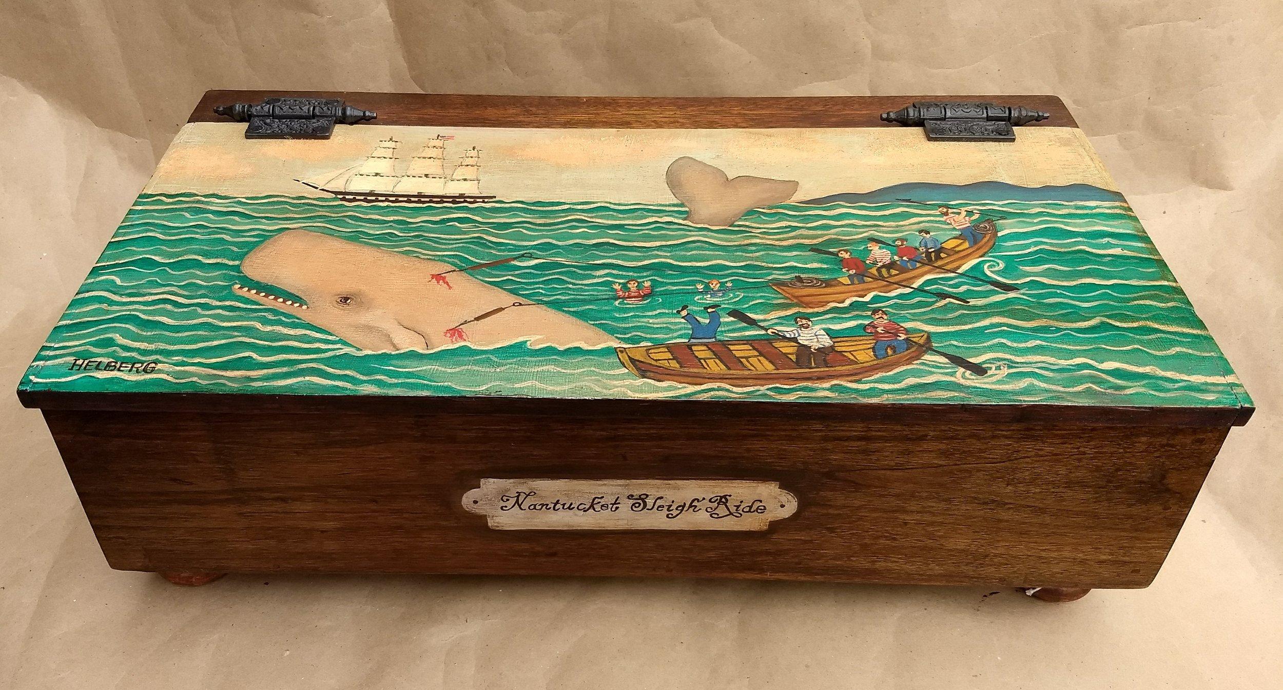 Nantucket Sleigh Ride  c Kristin Helberg 2018 old oak barn box