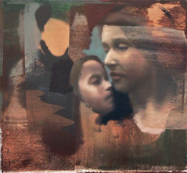 """Woman and Child, Oil on Linen on Panel, 2007, 48"""" x 52"""""""
