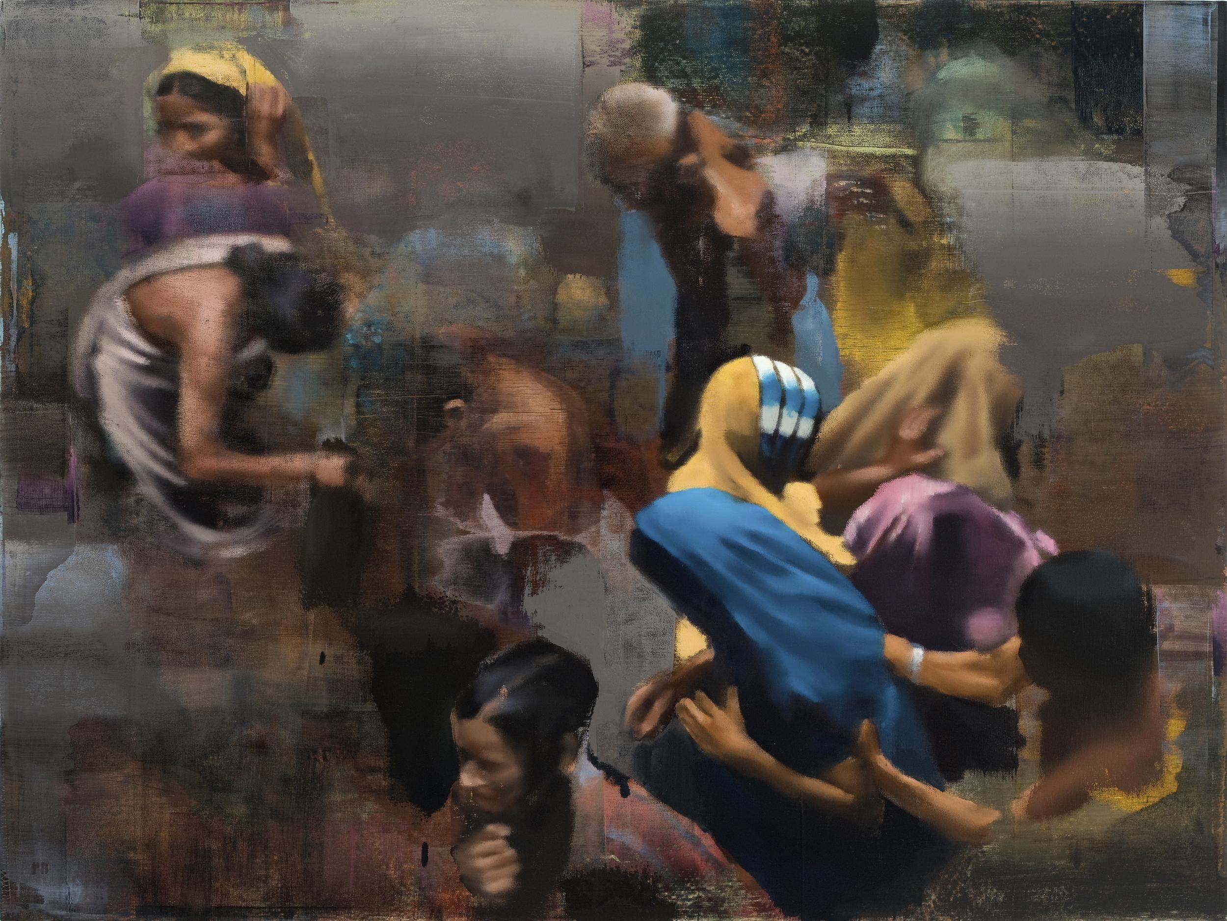 "Bathing, Oil on Linen on Panel, 2008, 60"" x 80"""