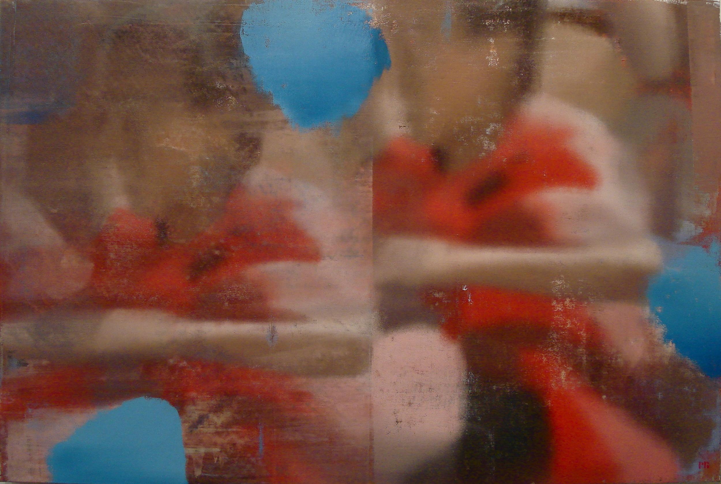 """Red Run, Oil on Linen on Panel, 2012, 48"""" x 72"""""""
