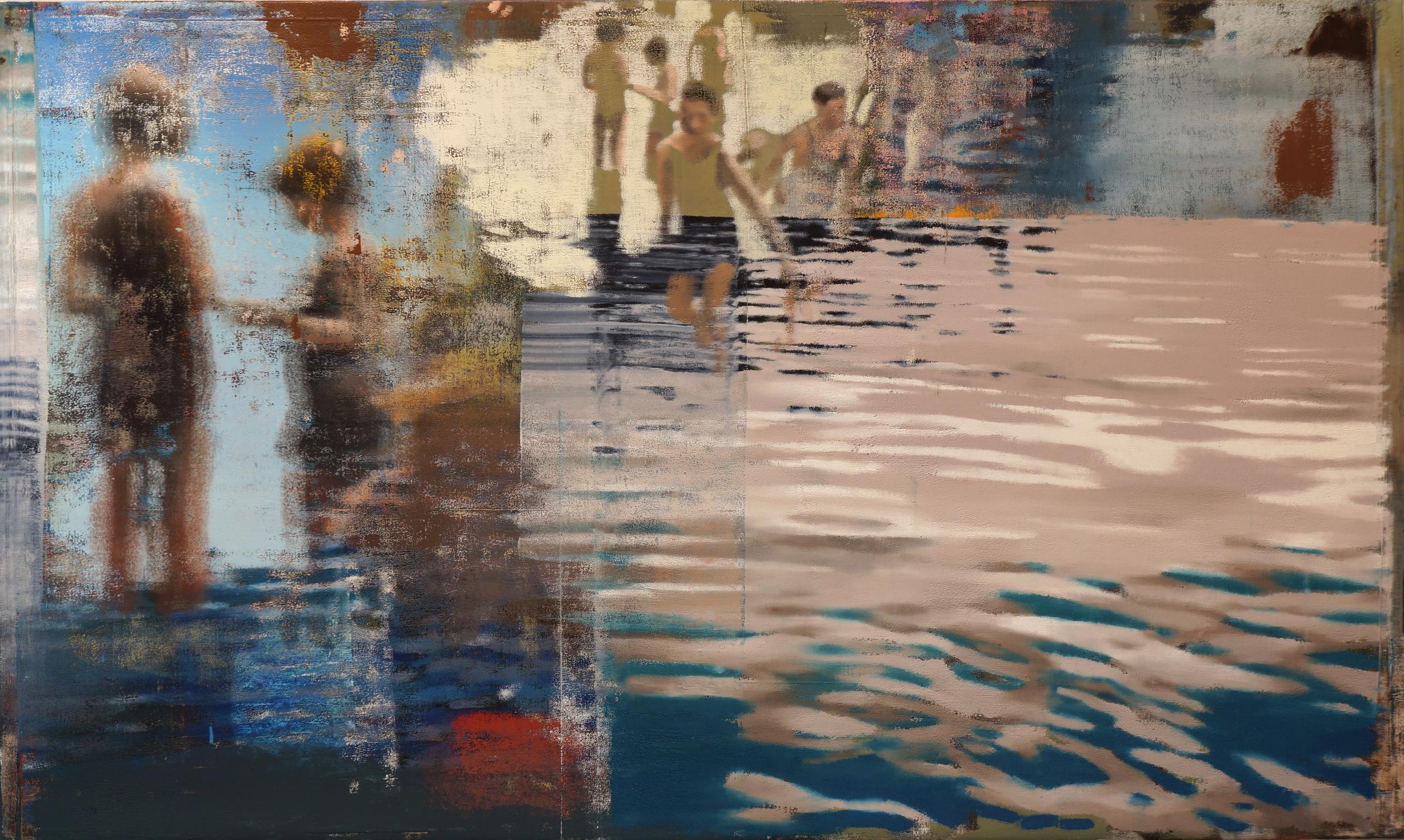 """Curiosity, Oil on Linen on Panel, 2013, 48"""" x 80"""""""