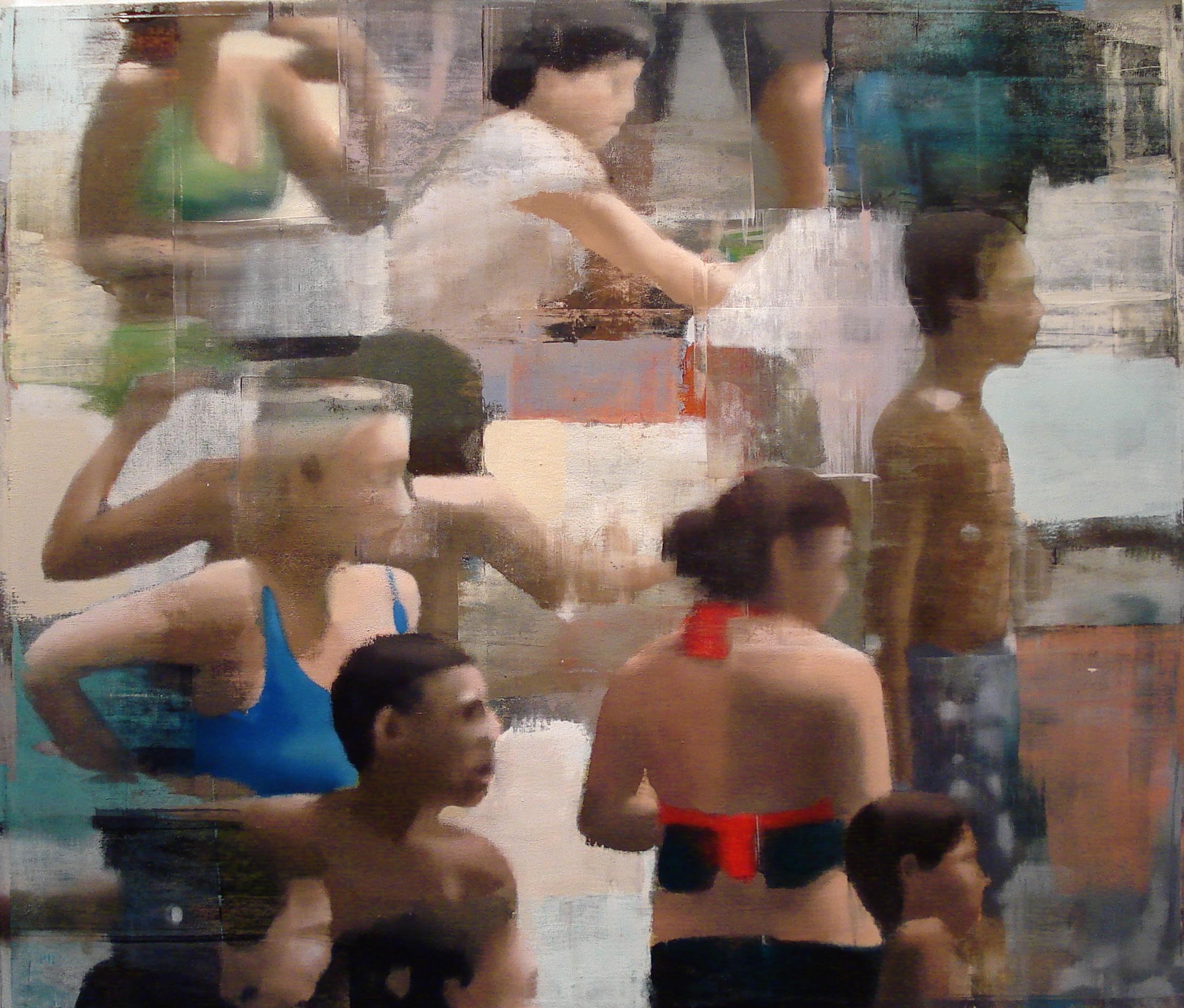 "Shallow Water, Oil on Linen on Panel, 2012, 68"" x 80"""