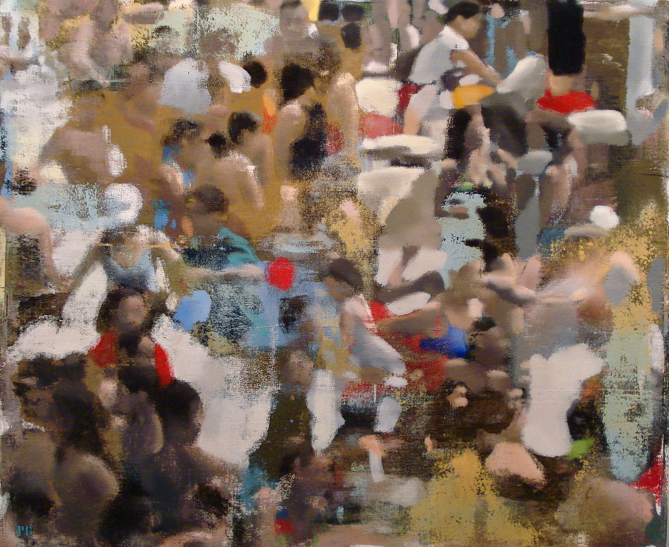 "Tide Pool, Oil on Linen on Panel, 2012, 40"" x 48"""