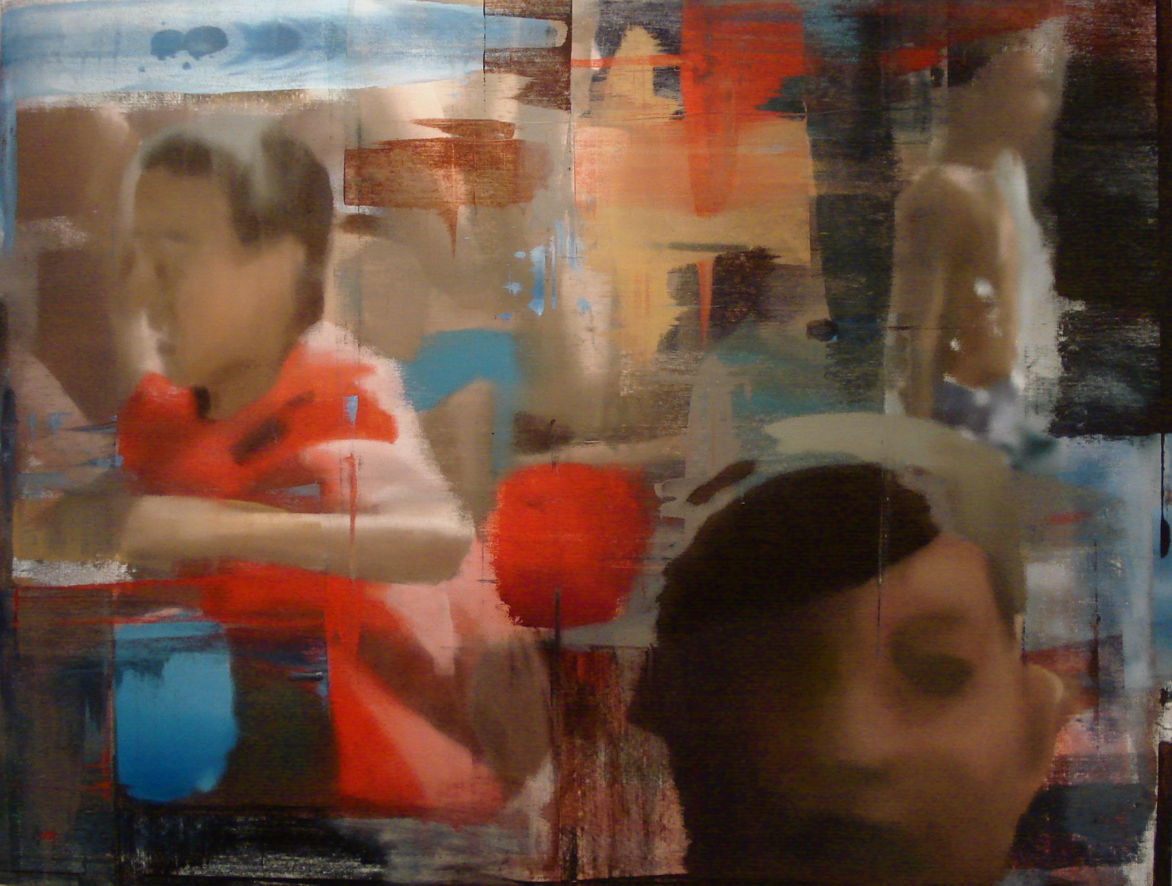 """Ways, Oil on Linen on Panel, 2012, 72"""" x 94"""""""