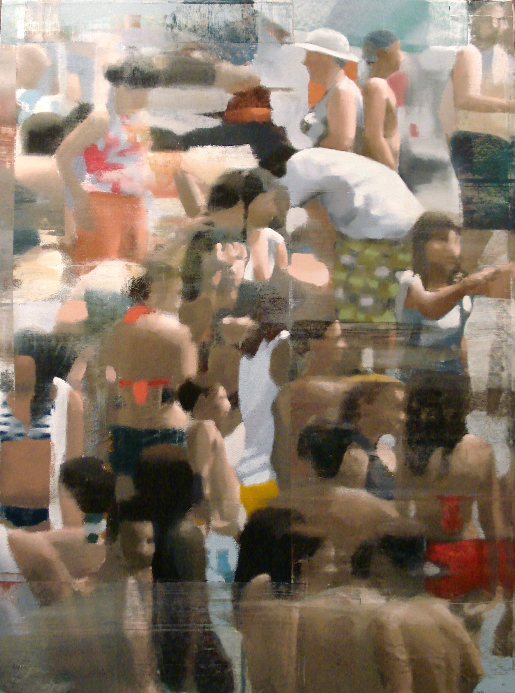 """Verticle Beach, Oil on Linen on Panel, 2012, 80"""" x 60"""""""