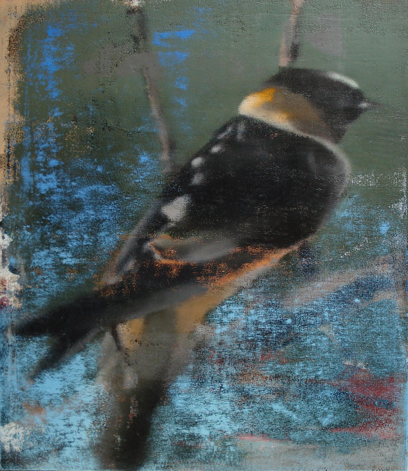 "Cliff Swallow, Oil on Linen on Panel, 2011, 30"" x 26"""