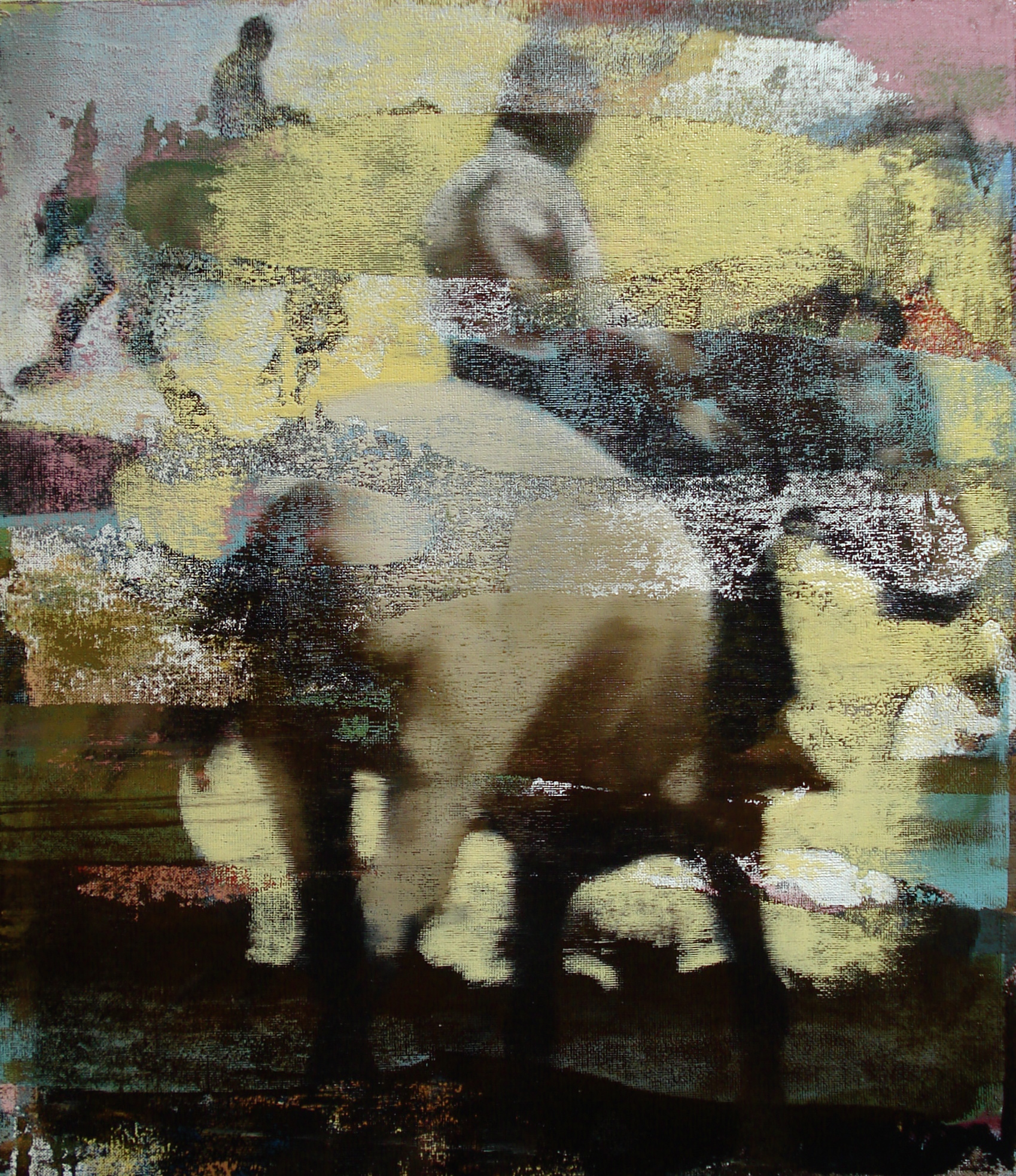 "Late Ride, Oil on Linen on Panel, 2011, 30"" x 26"""