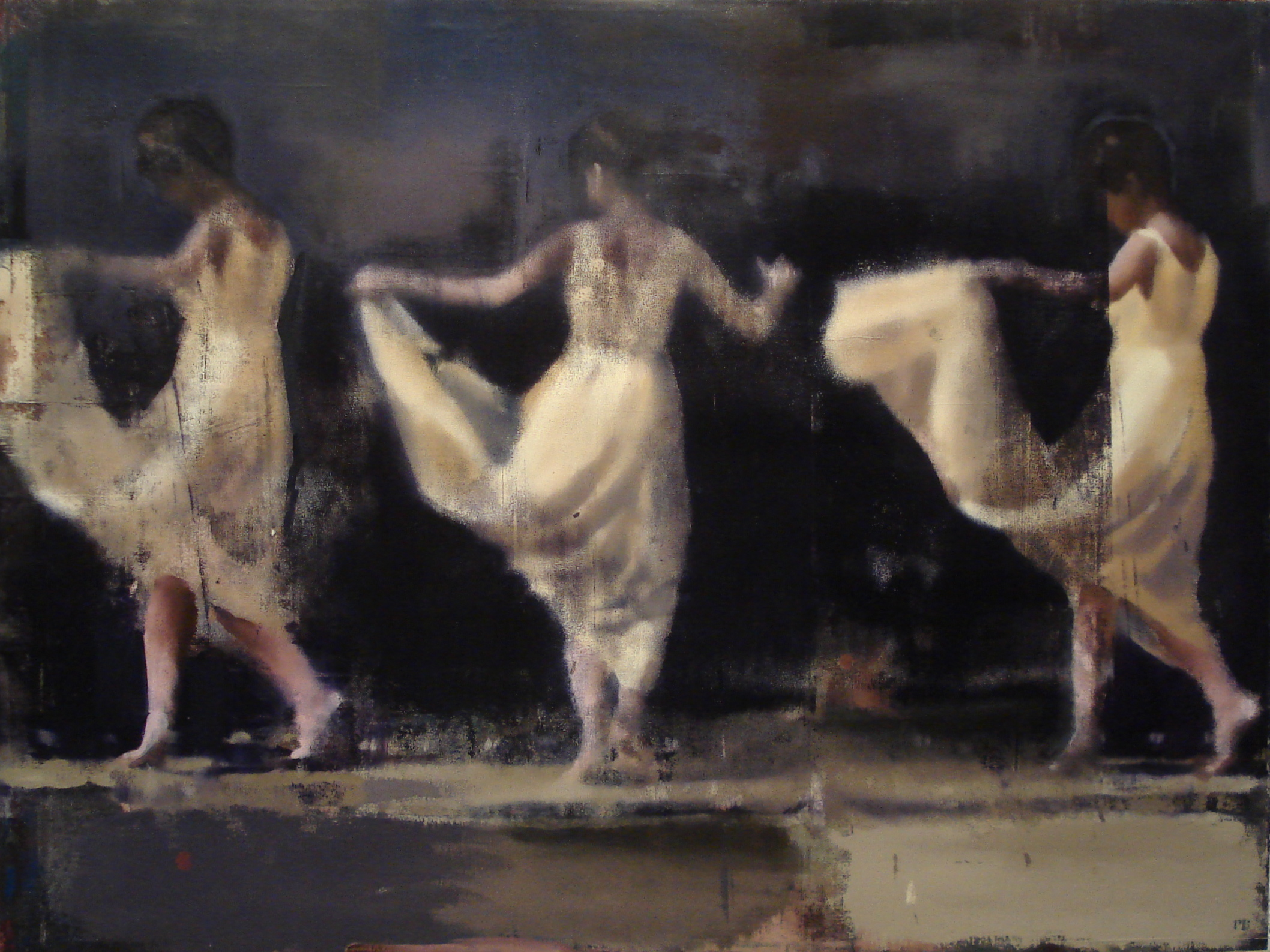 "Silent Dance, Oil on Linen on Panel, 2010, 60"" x 80"""