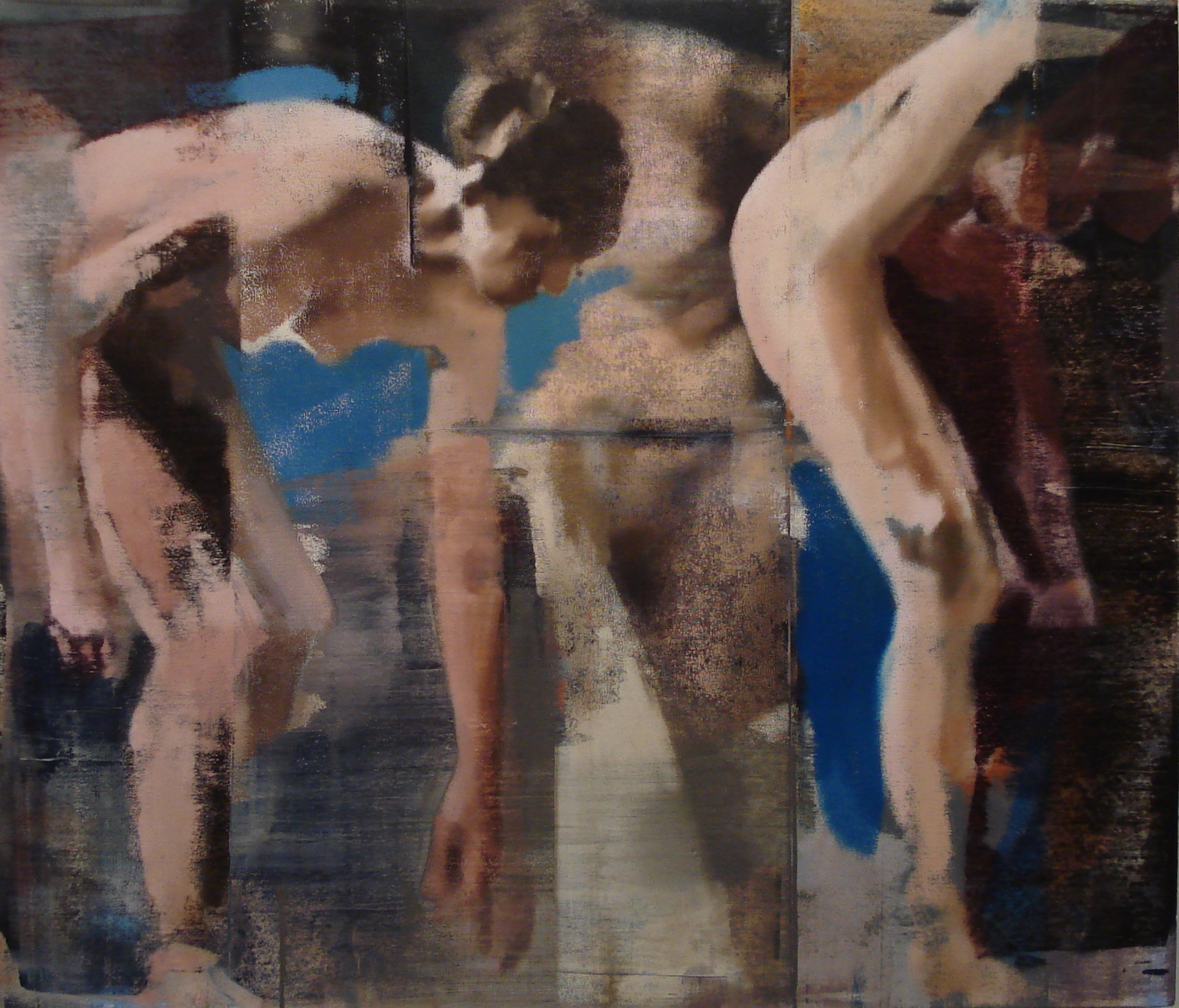 "Touch the Ground, Oil on Linen on Panel, 2010, 48"" x 56"""