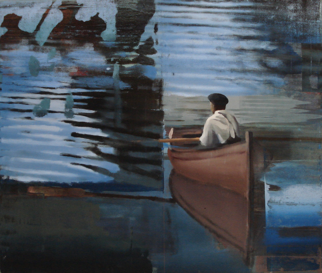 """Calm Water, Oil on Linen on Panel, 2008, 68"""" x 80"""""""