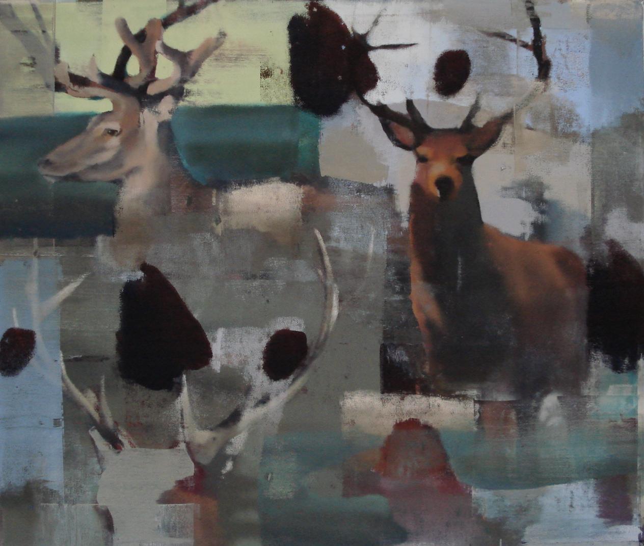 """Season, Oil on Linen on Panel, 2008, 68"""" x 80"""""""