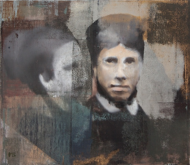 """Two Faces, Oil on Linen on Panel, 2007, 26"""" x 30"""""""